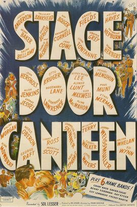 Stage Door Canteen 1943 movie poster