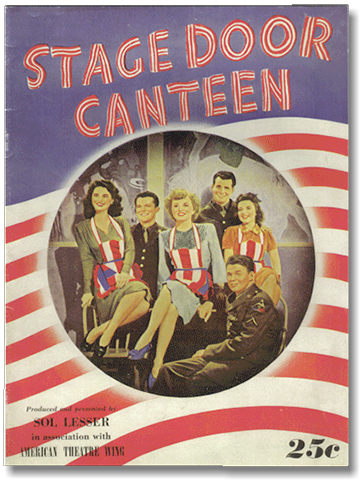 Stage Door Canteen 1943 movie programme