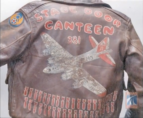 Leon DeLisle's A-2 flight jacket Stage Door Canteen